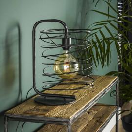 Lampe de table industrielle en métal noir Ø25 cm Sandy