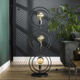 Lampadaire industriel en métal noir 3 lampes Sam
