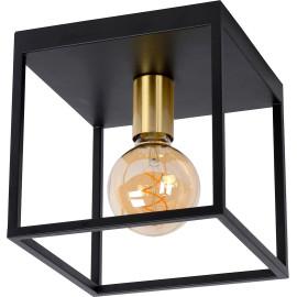 Plafonnier industriel en métal 1 lampe Rachel