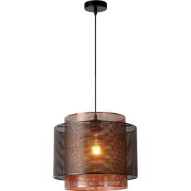 Suspension salon industriel 1 lampe Ø 34 cm Lucy