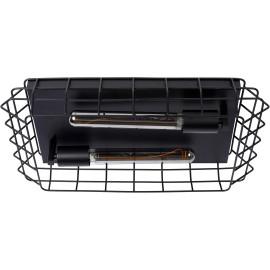 Plafonnier industriel 2xE27 noir Sash