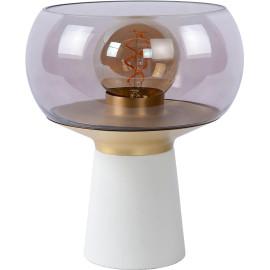 Lampe de table vintage salon blanc 1xE27 Global