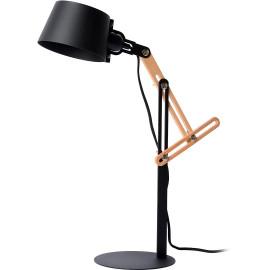 Lampe de bureau noire 1xE27 Zita