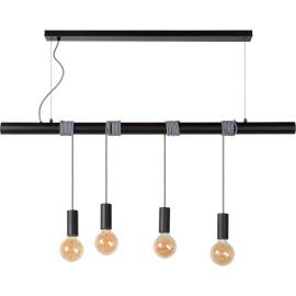 Suspension industrielle 4 lampes Ewan