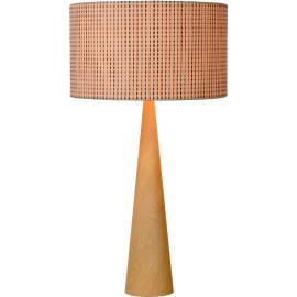 Lampe de table moderne en bois plaqué beige Venise