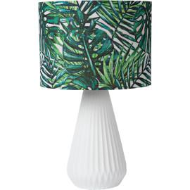 Lampe à poser Ø 25 cm en porcelaine et lin Serena