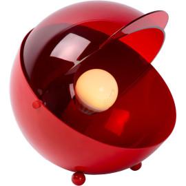 Lampe de table boule vintage en fer rouge Melby
