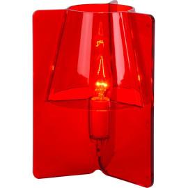 Lampe à poser design en acrylique rouge Lucile