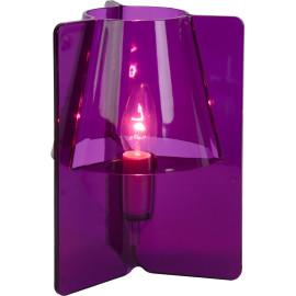Lampe à poser design en acrylique mauve Lucile