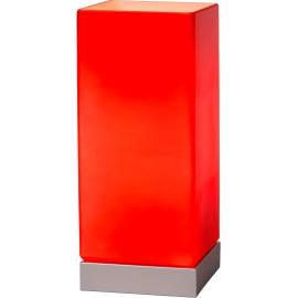 Lampe de table moderne tactile en verre rouge Groove