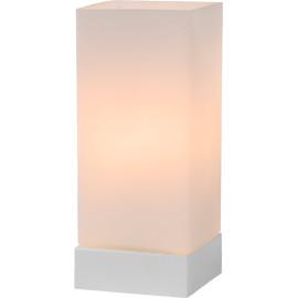 Lampe de table moderne tactile en verre blanc Groove