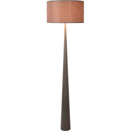 Lampadaire moderne en bois plaqué gris Venise