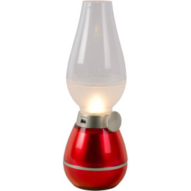 Lampe à poser vintage led rechageable rouge Wendy