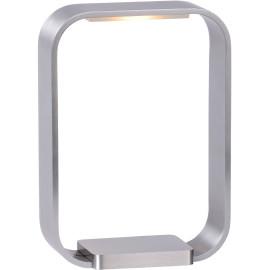 Lampe de table design tactile led en aluminium gris Holly