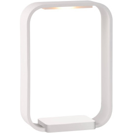 Lampe de table design tactile led en aluminium blanc Holly