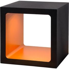 Lampe à poser design tactile led en métal noir Cubik