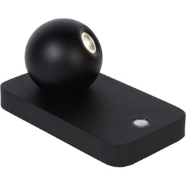 Lampe de table design led orientable en acier noir Iberis