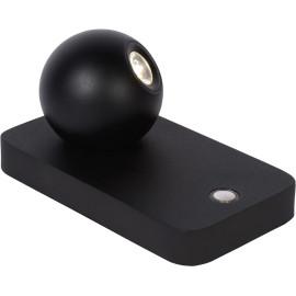 Lampe de table design led orientable en acier noir Iberis