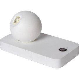 Lampe de table design led orientable en acier blanc Iberis