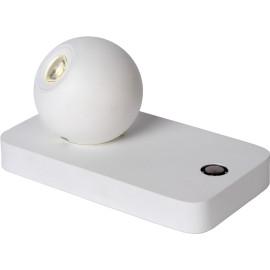 Lampe de table design led orientable en acier blanc Iberis
