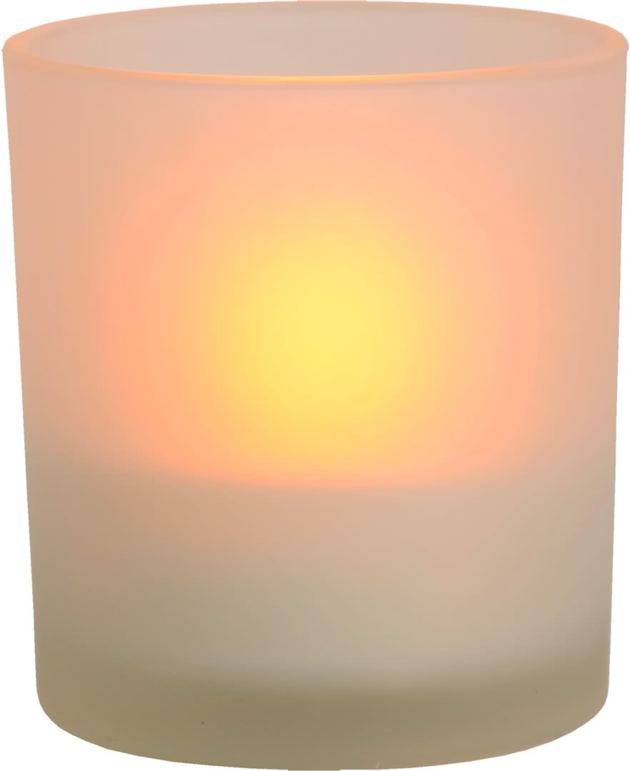 Lampe A Poser Classique Ronde En Verre Bougie Led Candea