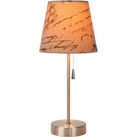 Lampe de table classique en métal et tissu textuel Noa