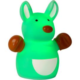 Veilleuse enfant led kangourou vert Luck