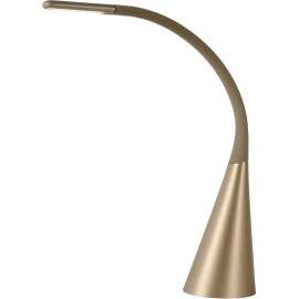 Lampe de bureau design led en métal or Papyrus