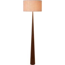 Lampadaire moderne en bois plaqué brun Venise
