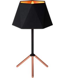 Lampe de table design en métal et tissu noir Barcelona