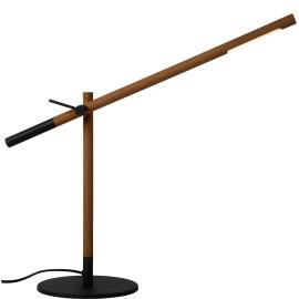 Lampe de bureau industrielle imitation bois led Luce
