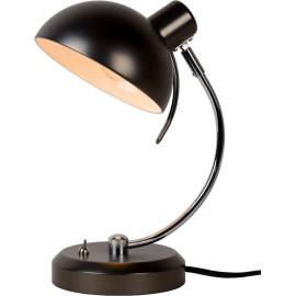 Lampe de bureau vintage en métal noir Sachi