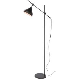 Lampadaire moderne en acier gris métallique Yotio
