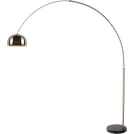 Lampadaire design en arc métallique effet chromé Francesca