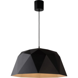Suspension design noire en fibre polyamide Linda