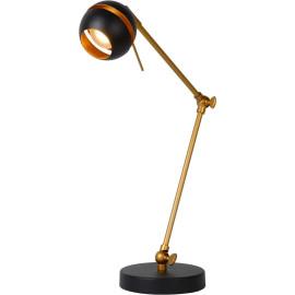 Lampe de bureau design articulée led noire Round