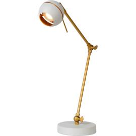 Lampe de bureau design articulée led blanche Round