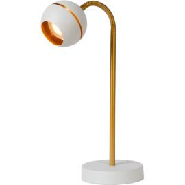 Lampe de bureau design led dorée et blanche Wity