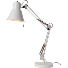 Lampe de bureau design en métal blanc Emelyn