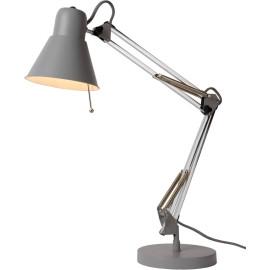 Lampe de bureau design en métal gris Emelyn
