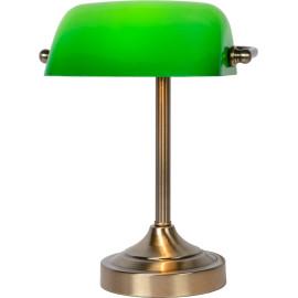 Lampe à poser vintage en métal et en verre vert Luxory