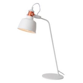 Lampe à poser industrielle en métal blanc Callopsy