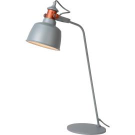 Lampe à poser industrielle en métal gris Callopsy