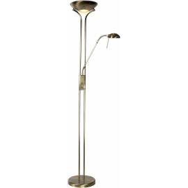 Lampadaire rustique en métal avec liseuse bronze Galva