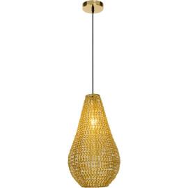Suspension moderne en métal doré Cendrine