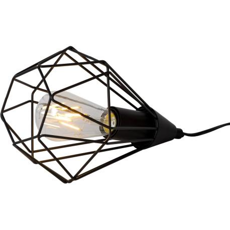 Lampe à poser design en métal noir Elvetia
