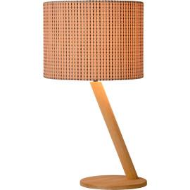 Lampe à poser design en bois plaqué beige Venicia