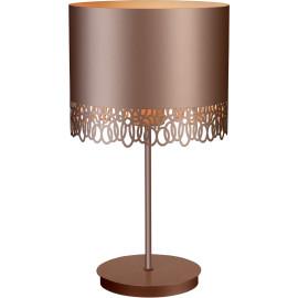 Lampe à poser moderne en métal rose or Steffie