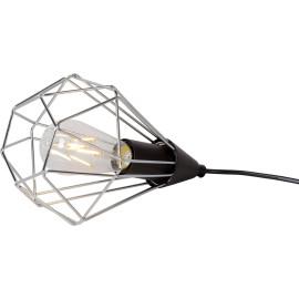 Lampe à poser design en métal chromé Elvetia