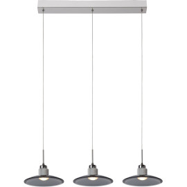 Suspension design led en verre et métal 3 ampoules Lady